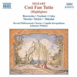 Mozart: Così Fan Tutte (Highlights)