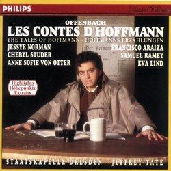 Offenbach: Les Contes d'Hoffmann / Araiza, Ramey, Lind, Norman, Studer, von Otter; Tate [Highlights]