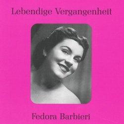 Lebendige Vergangenheit: Fedora Barbieri