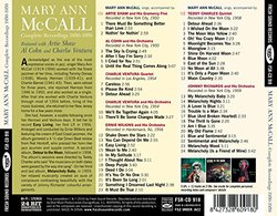 Mary Ann McCall. Complete Recordings 1950-1959