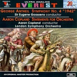 """Antheil: Symphony No. 4 (""""1942"""") / Copland: Statements for Orchestra"""