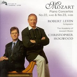 Mozart - Piano Concertos No. 22, K482 ~ No. 23, K488 / Levin, AAM, Hogwood