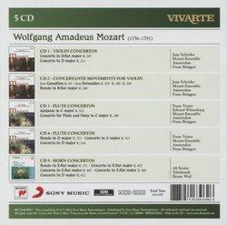 Mozart: Violin Concertos & Concertante Movements, Flute Concertos, Horn Concertos