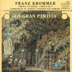 """Franz Krommer: Partita """"La Chasse""""; Partita No. 9; Harmonie Op. 76; Partita """"Concerto für 2 Hörner"""""""