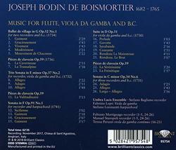 Boismortier: Music for Flute, Viola da Gamba & B.C.
