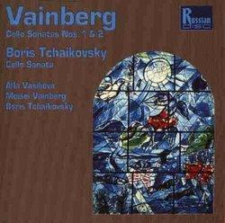 Vainberg (Weinberg): Sonata for cello & piano No 1 in C major, Op. 21 ; Sonata for cello & piano No 2 in G minor, Op. 63 / Boris Tchaikovsky: Cello Sonata in E minor