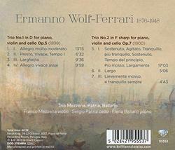 Wolf-Ferrari: Piano Trios