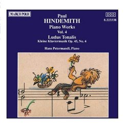HINDEMITH: Piano Works, Vol.  4