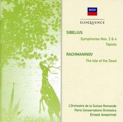 Sibelius: Sym No 2&4/Rachmaninov: Isle Of