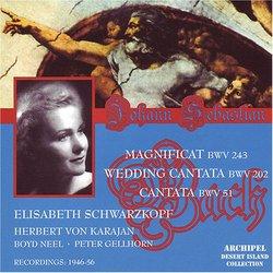 Bach: Magnificat BWV 243; Wedding Cantata BWV 202; Cantata BWV 51