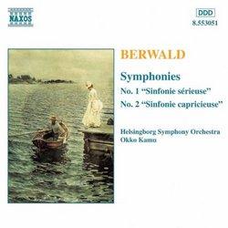 """Berwald: Symphonies Nos. 1 (""""Sinfonie sérieuse"""") & 2 (""""Sinfonie capricieuse"""")"""