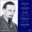 Walton: Façade; Lambert: Rio Grande; Bliss: Things to Come; Warlock: The Curlew; etc.