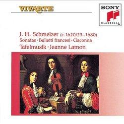 J.H. Schmeltzer Sonatas; Balletti Francesi; Ciaconna
