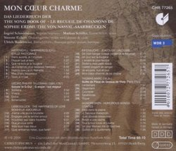 Mon Coeur Charmé: The Songbook of Countess Sophie Erdmuthe von Nassau-Saarbrucken