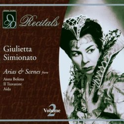 Giulietta Simionato - Recitals Vol 2 - Arias & Scenes