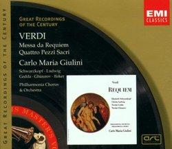 Verdi : Messa da Requiem; Quattro Pezzi Sacri