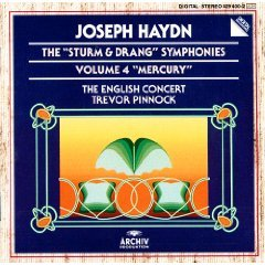 Haydn: 'Sturm & Drang' Symphonies, Vol 4 (Nos 43 'Mercury', 51, 52) /English Concert * Pinnock