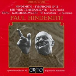 Paul Hindemith: Symphonie in B; Die Vier Temperamente