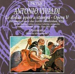 Anotnio Vivaldi: Le dodici opere a stampa - Opera V