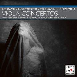 J.C. Bach, Hoffmeister, Telemann, Hindemith: Viola Concertos