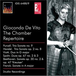 Gioconda De Vito: The Chamber Repertoire