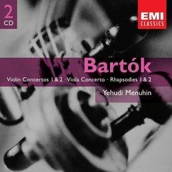Bartok: Violin Concertos, Viola Concerto, 6 Duo for 2 Violins, Violin Rhapsodies; Yehudi Menuhin