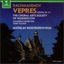 Rachmaninov Vespers / Choral Arts Society of Washington. Mstislav Rostropovich (Erato)