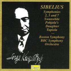 Sibelius: Symphonies Nos. 2, 5 & 7; Swanwhite; Pohjola's Daughter; Tapiola