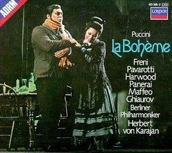 Puccini - La Bohème / Freni, Pavarotti, Harwood, Ghiaurov, Karajan