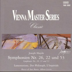 Vienna Master Series: Symphonies No. 26, 22 and 53