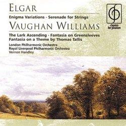 Elgar: Enigma Variations; Serenade for Strings; Vaughan Williams: The Lark Ascending; Fantasia on Greensleeves