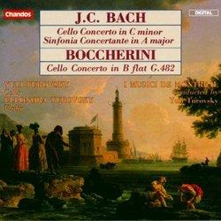 J.C. Bach: Cello Concerto in C minor; Sinfonia Concertante in A major; Boccherini: Cello Concerto in B flat