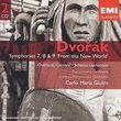 Dvorak: Symphonies 7, 8 & 9 'From the New World', Overture Carnaval, Scherzo Capriccioso, Carlo Maria Giulini