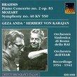Brahms: Piano Concerto No. 2 Op. 83; Mozart: Symphony No. 40 KV 550