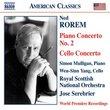 Rorem: Piano Concerto No. 2; Cello Concerto