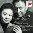 Midori ~ Sibelius - Violin Concerto · Bruch - Scottish Fantasy / Israel PO · Mehta