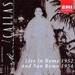 Maria Callas: Live in Rome 1952 and San Remo 1954