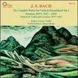 Complete Works for Violin & Harpsichord 2