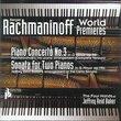 Rachmaninoff: World Premieres
