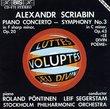 """Scriabin: Piano Concerto/ Symphony 3 """"Divine Poem"""""""