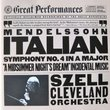 Mendelssohn: Symphony No. 4  Op. 90, Italian Op. 61 Incidental Music to  Midsummer Night's Dream