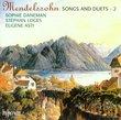 Mendelssohn - Songs and Duets 2 / Sophie Daneman, Stephan Loge, Eugene Asti