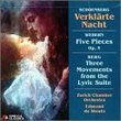 Schoenberg: Transfigured Night / Webern: Five Pieces / Berg: Three Movements from the Lyric Suite