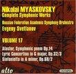 Nikolai Myaskovsky: Complete Symphonic Works, Vol. 17