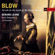 Blow - An Ode on the Death of Mr. Henry Purcell / Lesne · Dugradin · La Canzona