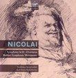 Nicolai: Symphony No. 2, Overtures - Mahler : Symphonic Movements