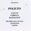 Donizetti: Poliuto, Milano 1960
