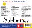 Cy Walter: Sublimities, Vol. 1