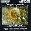 "Vagn Holmboe: Symphony No. 4 ""Sinfonia Sacra"", Op. 29 (1941, rev. 1945) / Symphony No. 5, Op. 35 (1944) - Owain Arwel Hughes"