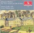 Brahms: Three Sonatas for Cello & Piano